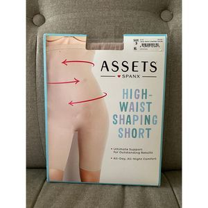 Assets Spanx High Waist Nude Shaping Short Size 3